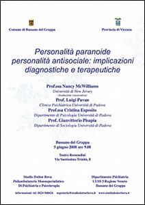 Personalita' Paranoide e Antisociale