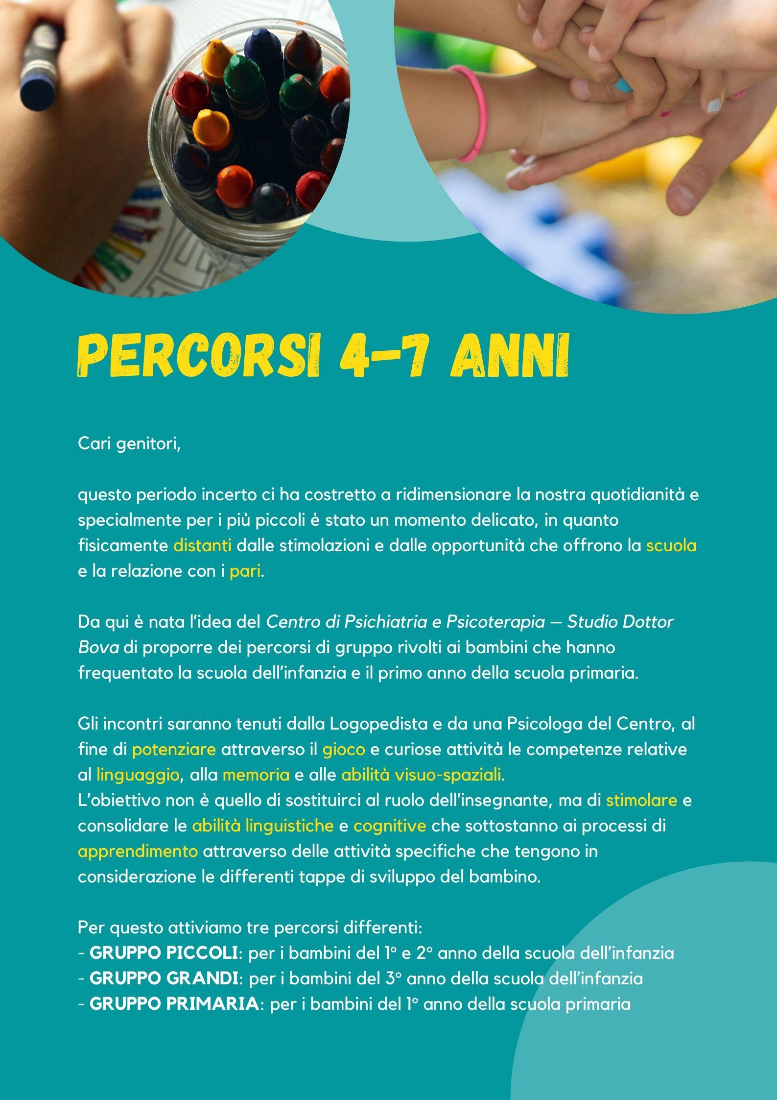 PERCORSI 4-7 ANNI